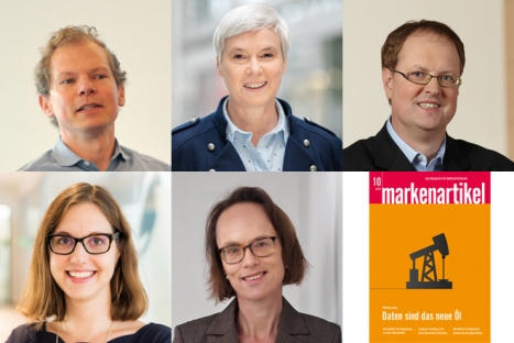 v.l.: Dr. Steven Schuh (MAN Truck & Bus), Dr. Kristina Rodig (Eon), Andreas Onnen (P&G), Claudia Saalbach de Thomas (Danone Waters) und Heike Simon (Unilever) - (Quelle: Mike Henning - Henning:Photographie; Astrid Schmidhuber; Danone Waters Deutschland; Joerg Ladwig/Procter & Gamble; Unilever)